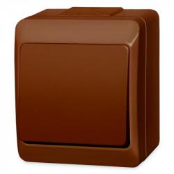 5331-06  Hnedý prepínač na povrch č. 6 (striedavý), 250 V, 10 A, IP 44