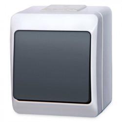 5331-01  Čierno-biely prepínač na povrch č. 6 (striedavý), 250 V, 10 A, IP 44