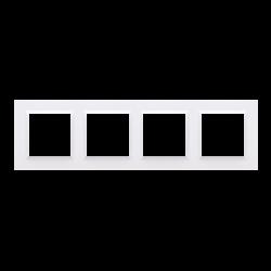 Rámček 4-násobný biela CR4/11