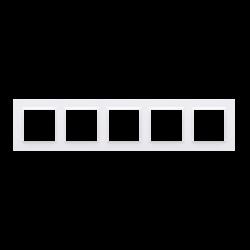 Rámček 5-násobný biela CR5/11
