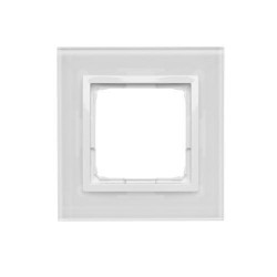 DRN1/70 1-rámček sklenený perlová/biela