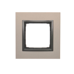 DRN1/80  Rámček 1 - násobný kovový Saténová/antracit