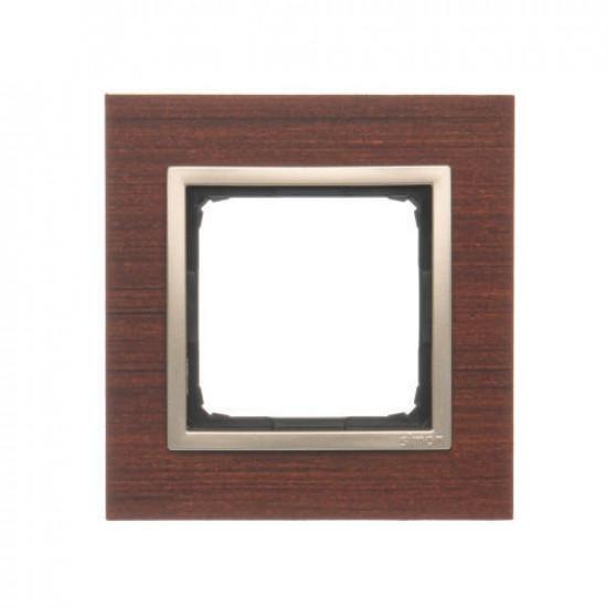 DRN1/86  Rámček 1 - násobný drevený Orech/zlato