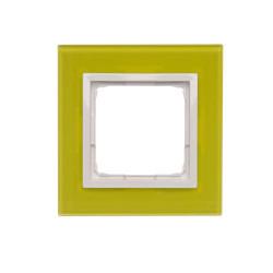 DRN1/90 Rámček 1 - násobný sklenený Limetková/biela