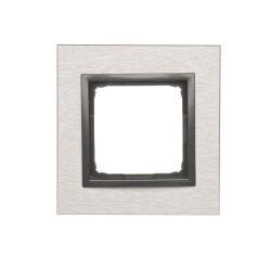 DRN1/76  Rámček 1 - násobný kovový Svetlý nerez/antracit
