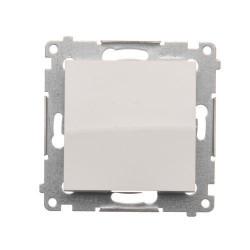 DW1.01/11  Jednopólový spínač, radenie č. 1 (prístroj s krytom) 10AX 250V, pružinové svorky, biela